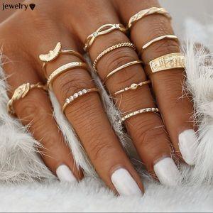 Jewelry - 🆕 12 piece midi ring set